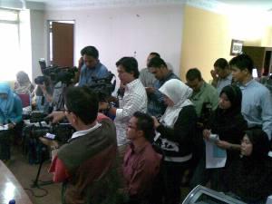 di antara wakil media yang hadir