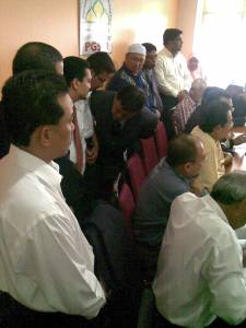 di antara wakil NGO Islam yang hadir untuk sidang media pagi tadi
